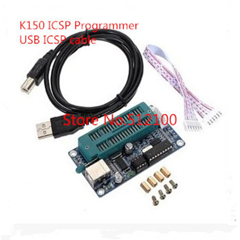 10pcs Free shipping PIC K150 ICSP Programmer USB Automatic Programming Develop Microcontroller USB ICSP cable