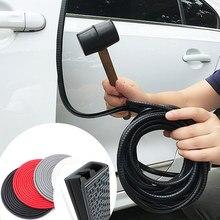 Bande anticollision universelle de Protection de bord de porte de voiture de 5M avec des autocollants de bande de Protection de rayure de bord de garniture de pare-chocs de disque en acier