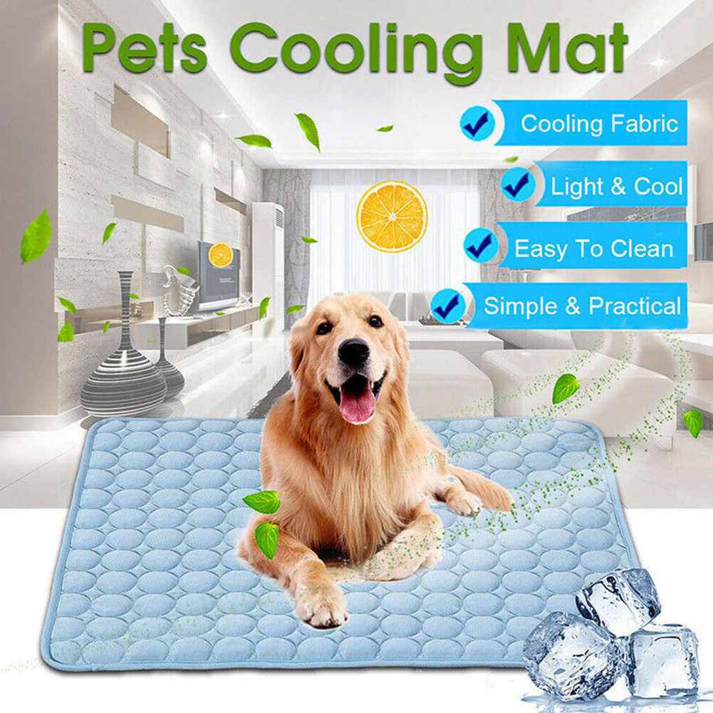Chilly Portable Sofa Pet Cat Soft Accessories Blanket Bed Pad Summer Non-toxic Cushion Sleeping Indoor Dog Cooling Mat image
