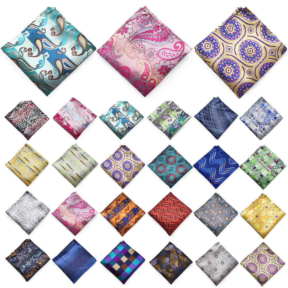 Mens Pocket Square Handkerchief Hanky Wedding Party Multi-Color Print