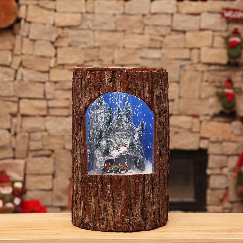 Рождественские украшения креативный круг Клык Чжэнь Шу Чжуан музыка снег маятник свет торговый центр, отель Домашний набор реквизит