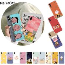 MaiYaCa Cute cartoon boy Charlie Brown DIY Luxury phone Case for Apple iphone 11 pro 8 7 66S Plus X XS MAX 5S SE XR Cellphones(China)