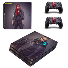 Cyberpunk Style Skin Sticker for PS4 Pro Console And Controllers Decal Vinyl Skins Cover YSP4P-3350