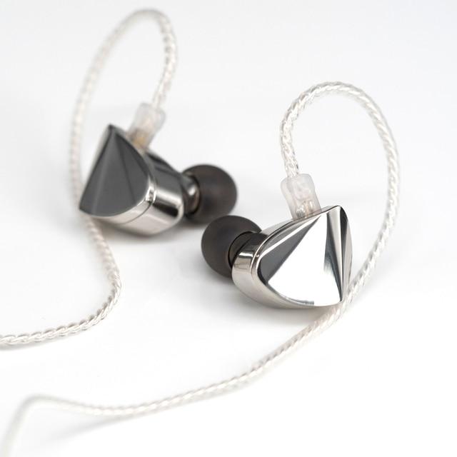 Moondrop KXXS Diamond Like Carbon Diaphragm Dynamic HIFI In Ear Earphone Monitor Stage IEM Earbud Plating Metal Detachable 2Pin 3