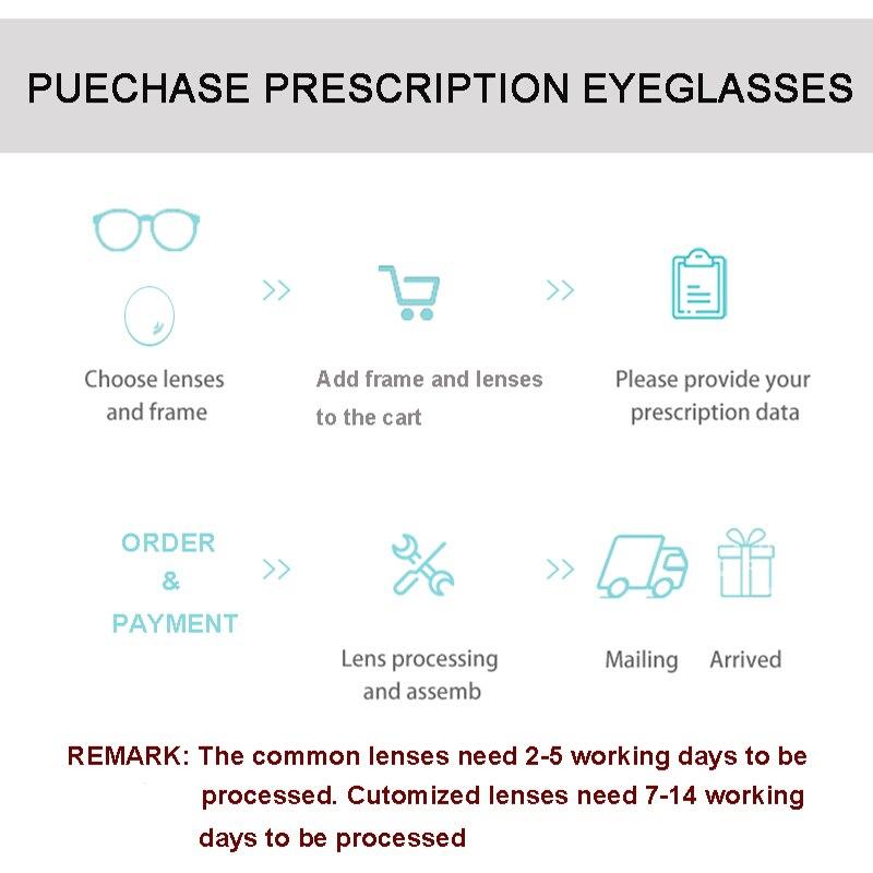 1.56 1.61 1.67 1.74 Aspherical Progressive Photochromic Optical Lenses Gray Prescription Multifocal Glasses Lens Driving UV400 - 6