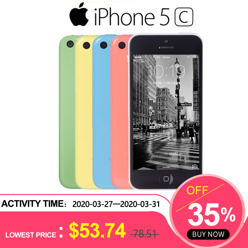 Used Phone Apple Iphone 5C RAM 1G ROM 8G 16&32 IOS IPhone 5c Dual Core TouchScreen WIFI GPS GSM HSDPA 8MPix Camera 4.0 Iphone5c