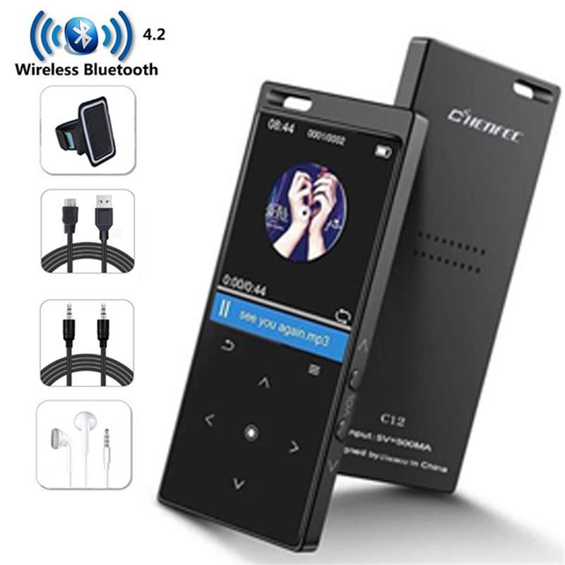 Player com Speaker Corpo de Toque Leitor de Música com Rádio E-book até 128gb Metal Chave Hifi Lossless fm Bluetooth4.2 Mp4 16gb