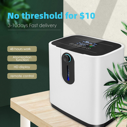 1-7L/min 48Hours Portable Oxygen Concentrator Machine Generator Oxygen Making Machine Without Battery Air Purifier AC 220V/110V