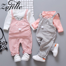 ZAFILLE Children Clothes Long Sleeve Baby Outfits Set Cartoon Kids Clothes Girls Set 2020 New Baby Girls Clothes Top+Pant Sets цена 2017
