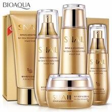 BIOAQUA 5PCS Snail Face Skin Care Set Day Cream/ Essence/ To