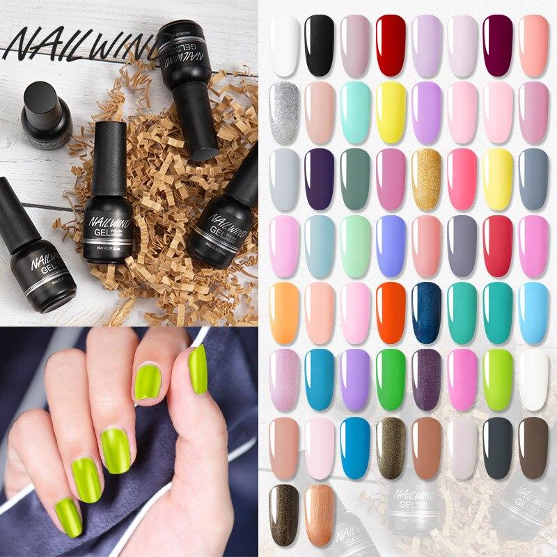 NAILWIND набор гель-лаков для ногтей Гибридный Лаки маникюрного геля Краски лак для верхнего и базового покрытия, все для дизайна ногтей УФ! Пол...