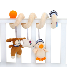 Newborn Cute Cartoon Bed Pendant Toy Baby Music Stroller Rattles Puzzle Cognition for 0-24 Month Toys