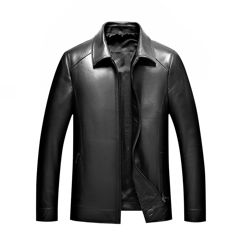 New 8XL 7XL Plus Size Spring And Autumn Fashion Motorcycle Genuine Leather Coats Men Casual Coat Mens Genuine Leather Jacket