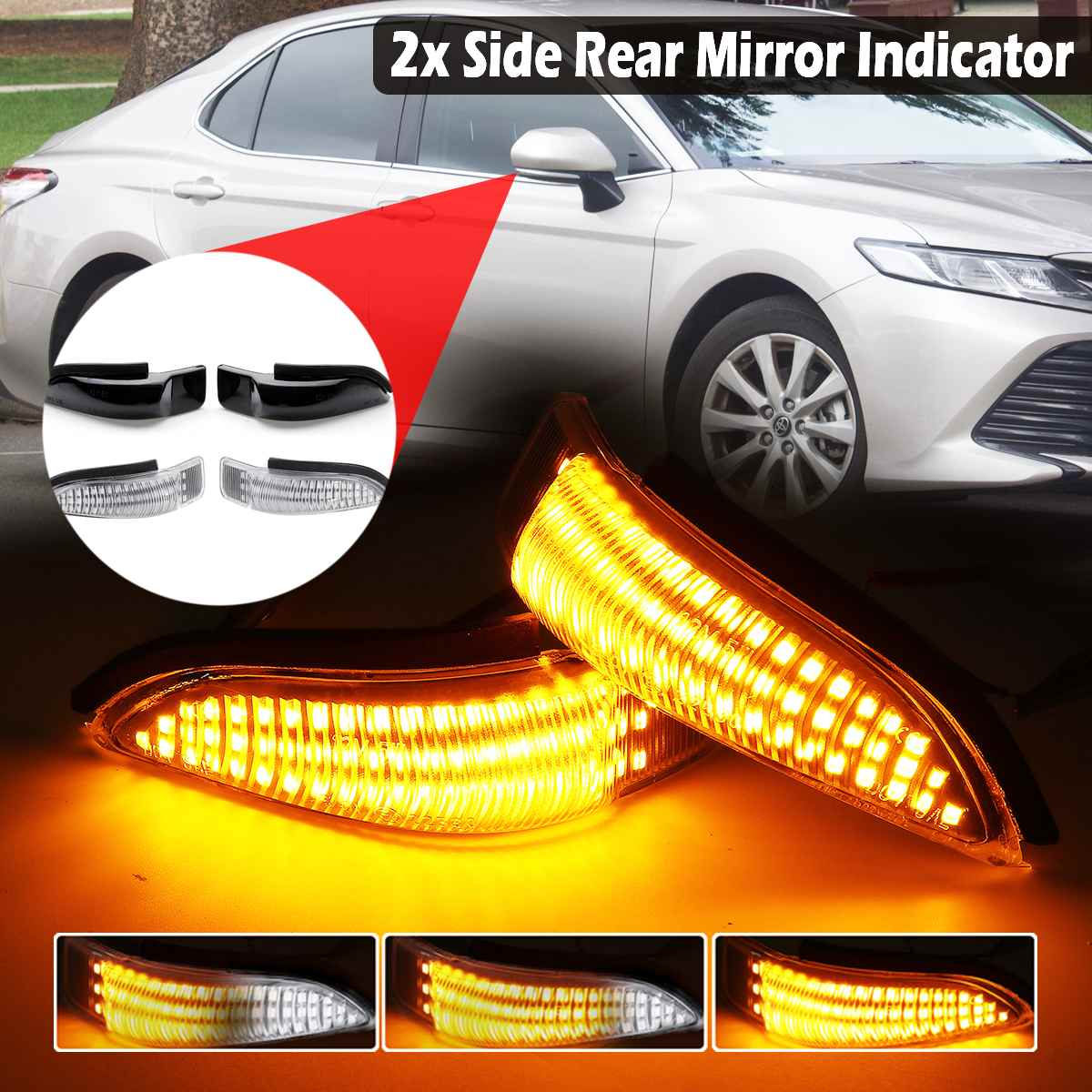 ZC LED DRL Headlight For Lancer EVO X MK VIII Saloon Hatchback 2008-2018 Headlights With Sequential Indicator One Pair