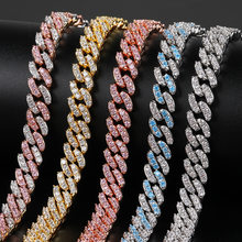 Freewear 9mm Micro Pave Iced Out CZ Cuban Link Necklaces Chains Gold Silver Color 5 Luxury Bling Jewelry Fashion Hiphop For Men