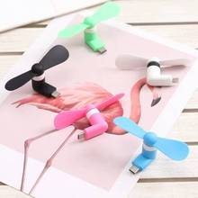 1PC High Quality 100% tested Mini Portable USB Fan For Phone Fan Bendable Removable USB Low Power Fan