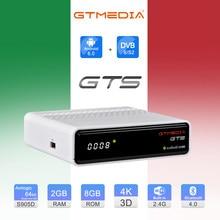 GTmedia GTS Satellite Empfänger Android 6,0 TV Box Smart TV DVB-S2 2G/8GB BT 4,0 Set Top box Cline m3u Unterstützung Google GTPlayer