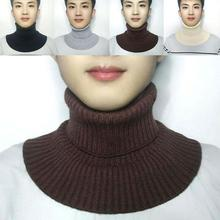 White Knitted Fake Collar Bib Men Fashion Clothes with Matching Accessories Warm Bib High-quality Products Many Colors in Stock