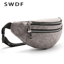 SWDF New Waist Bags Women Designer Fanny Pack Fashion Phone Belt Holographic Lady Chest Bag Female Purse Zipper Messenger