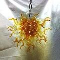 C88-Free доставка Янтарная выдувная стеклянная люстра современная 24-дюймовая Длинная цепочка люстра светильник
