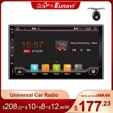 Eunavi 2 Din универсальный автомобильный мультимедийный плеер радио аудио авто GPS навигация Android 2din головное устройство IPS TDA7851 4G 64GB DSP WIFI