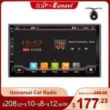 Eunavi 2 الدين العالمي سيارة وسائط الإعلام المتعددة لاعب راديو الصوت السيارات GPS للملاحة الروبوت 2din Headunit IPS TDA7851 4G 64GB DSP واي فاي