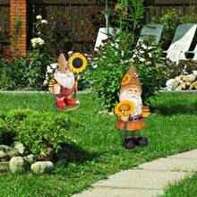 Ogród posąg z żywicy dekoracja krajobrazowa zewnętrzne fantazyjne doniczki rękodzieło ozdoby kwiat miniaturowe akcesoria ogród Elf Dwa Y2Q7