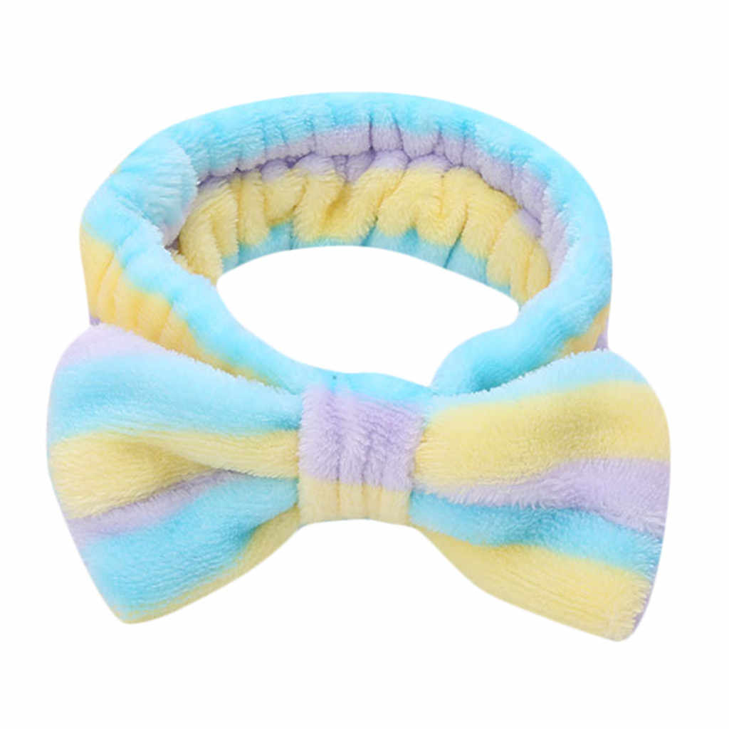 Women Ladies Elastic Hairband Bow-Knot Cute Twiste Stretch Head Band Simple Sweet Girls Hair Headband Hair Accessories #Zer