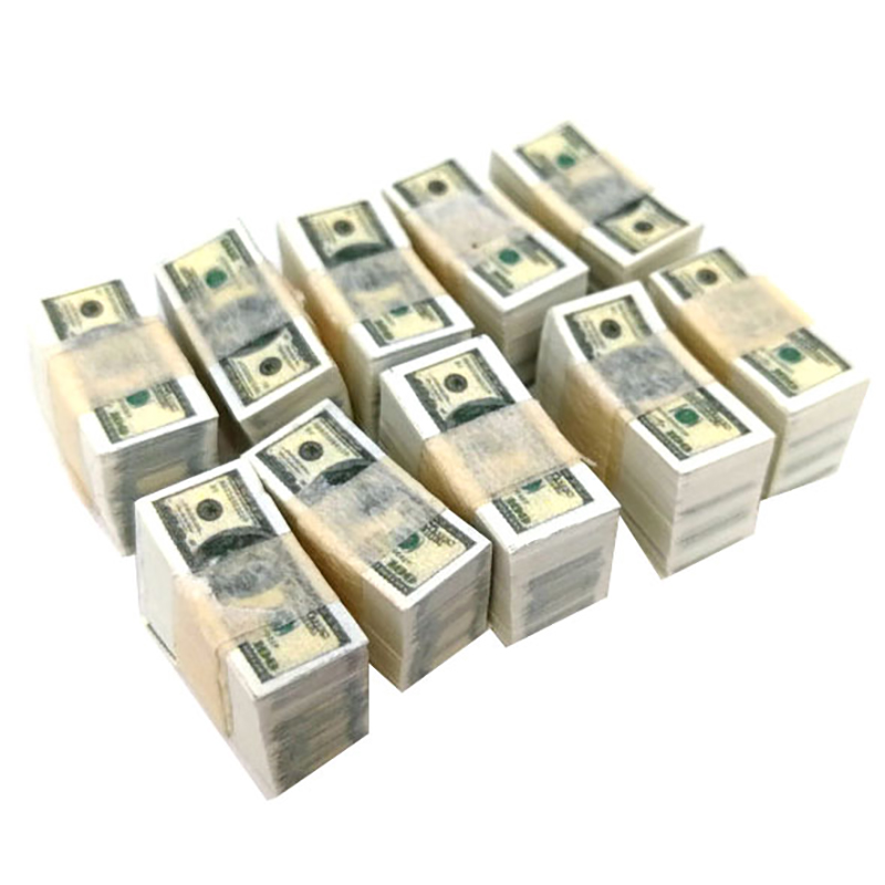1/12 Scale A Bundle Miniature Play Money Us $100 / $1Banknotes