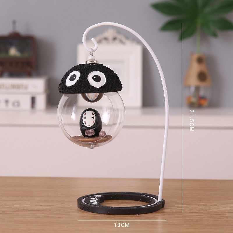 ない男 led ライトのおもちゃベビーキッズ顔フィギュアモデル人形宮崎駿 kaonashi 顔男 led ナイトライトのおもちゃ