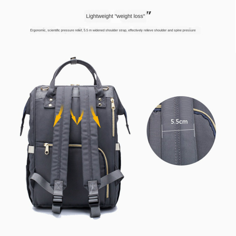 LEQUEEN NEW Diaper Bag Backpack Travel Stroller Baby Nappy Backpack Bags Multi-Function Large Capacity Waterproof Mother's Bag