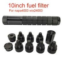 10นิ้ว1/2 28 5/8 24สกรูกรวยเดี่ยวอลูมิเนียมสีดำตัวทำละลายดักรถการใช้สำหรับ NAPA 4003 WIX 24003