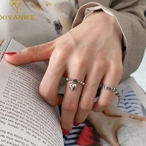 XIYANIKE 925 Sterling Silver Hot Sale Korean Love Chain Ring Female Retro Light luxury Cute Sexy Elegant Fashion Jewelry Кольцо