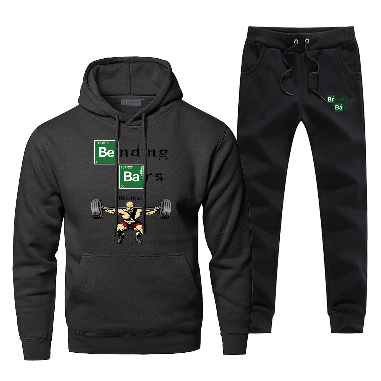 Breaking Bad Walter White Gym Motivation Hoodies Pants Sets Men Fashion Tracksuit Sweatshirt Winter Fleece Sportswear Sweatpants
