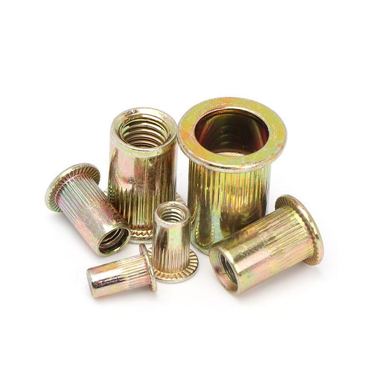 300pcs/set Zinc Plated Steel Rivet Nut Kit Rivet Nutsert 150pcs Metric + 150pcs SAE Durable Tool Parts