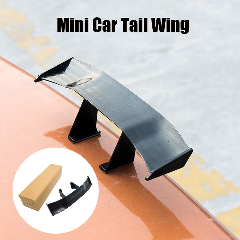 Car Spoiler Wings Car Mini Auto Fiber Decoration For Mercedes W203 W205 W204 W211 W212 For <font><b>Audi</b></font> A3 8P 8L A4 B5 B6 A6 C5 C6 <font><b>A8</b></font> <font><b>D2</b></font> image
