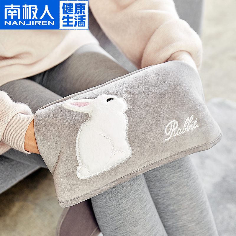Home Charging Hot Water Bag Waist Bunny Electric Heater Explosion-Proof Plush Belt Hot Water Bottle Water Injection Hand Warmer