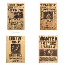 Poster-Decor Painting Paper Wall-Sticker Kraft Movie Magic Character Retro HP Wars Classic