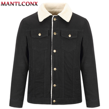 MANTLCONX New Men Winter Jacket Coat Fashion Quality Windproof Thick Warm Soft Overcoat Brand Clothing Male Parkas Casual