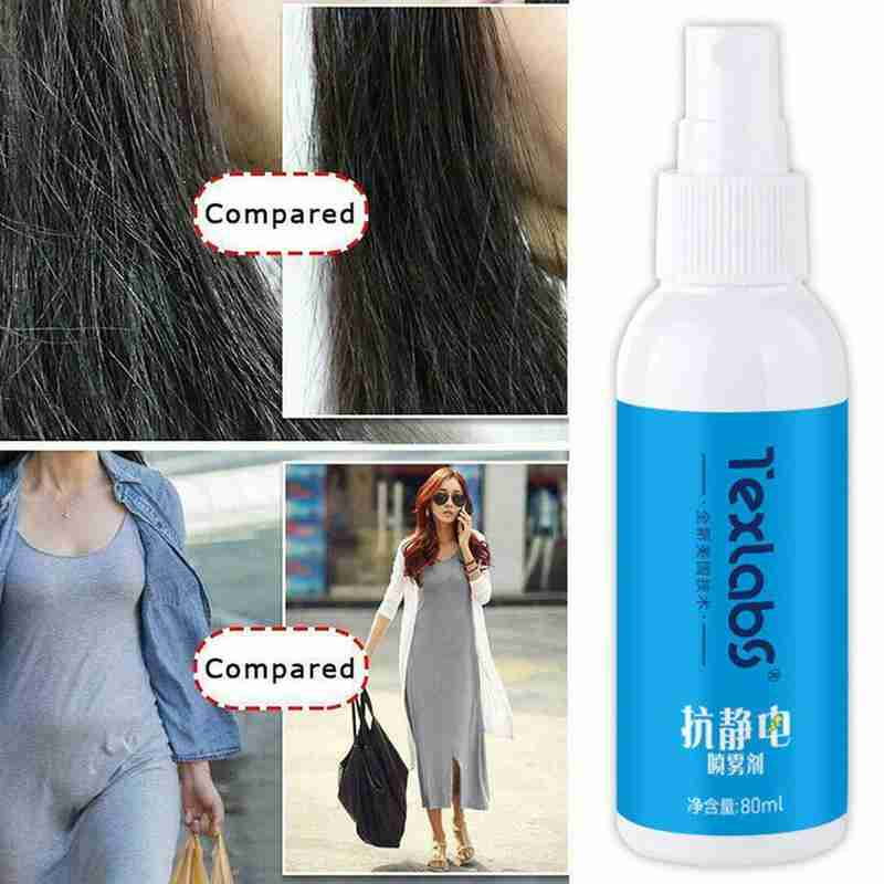 80ML Antistatic Spray Static Remover Sprays For Clothes Lasting Anti-Wrinkle Anti-Sticking Household Chemicals Anti Static Spray