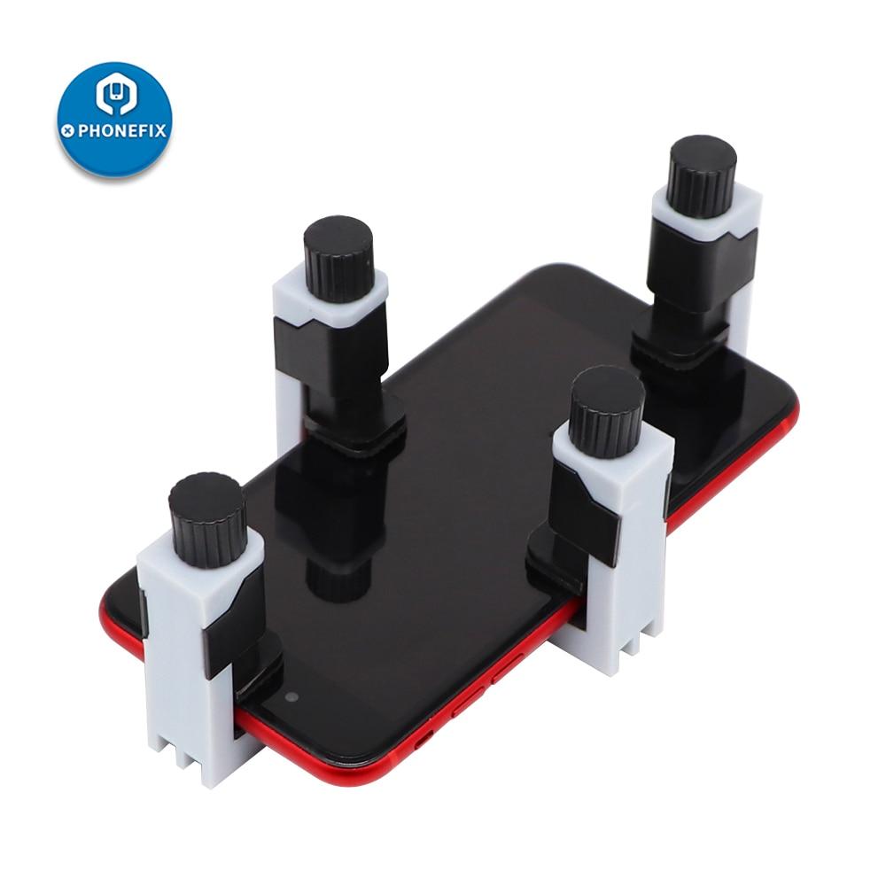 4Pcs Plastic Clip Fixture Holder Cell Phone Screen Fastening Clamp Tablet PC Repair Holder for Mobile Phone Screen Repair Kit