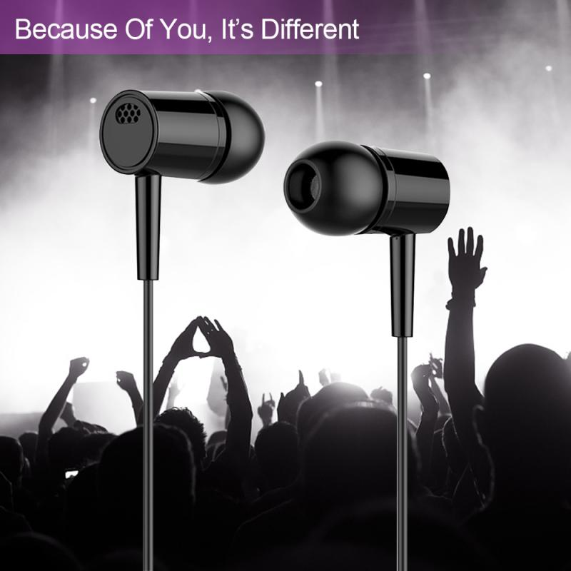 2 Color 3.5MM In-ear Wired Earphone Heavy Subwoofer Headphone With Mic Earbuds Headset For Phone Computer Headphone TSLM1