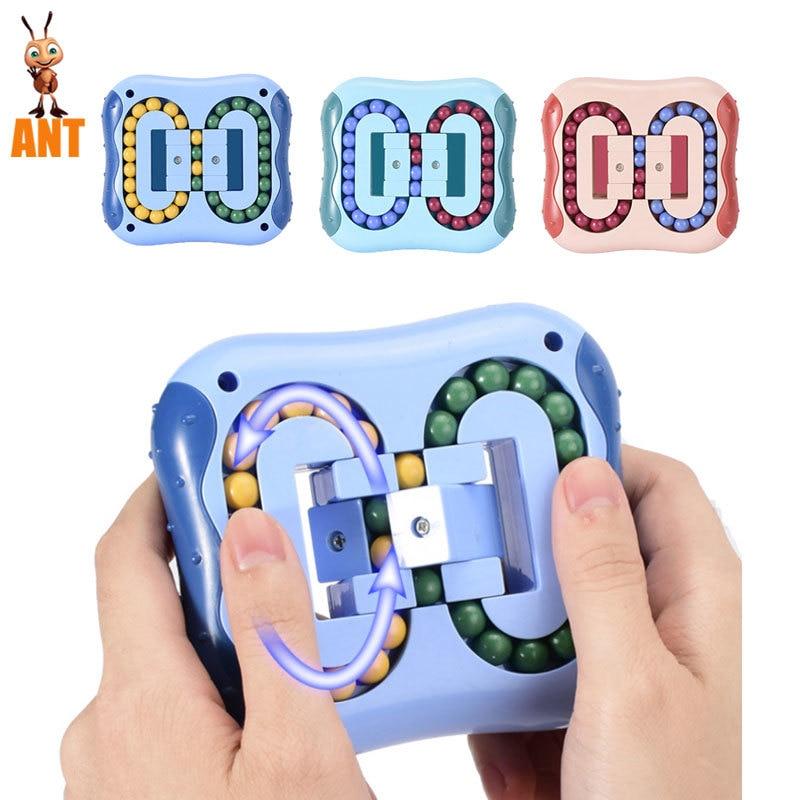 Rotating Magic Bean Intelligence Fingertip Cube Children Finger Gyro Magic Disk Educational Cube Toys