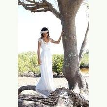 Распродажа недорогие летние садовые Свадебные платья с открытой