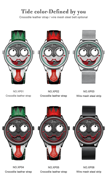 2019 Joker Watch Men Top Brand Luxury Fashion Personality Alloy Quartz Watches Mens Limited Edition Designer Watch
