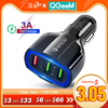 Qgeem qc 3.0 3 usb車の充電器急速充電3.0 3 ポート急速充電器自動車電話充電アダプタiphone xiaomi mi 9 redmi