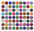 Набор из 12/24/45/72 цветов, алмазная Мерцающая блестящая пудра для Временной Татуировки, для детей, для лица, тела, для творчества, для рисования ...