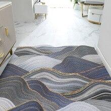 Придверный коврик с волнистым узором, нескользящий ковер для коридора, прихожей, гостиной, спальни, ванной