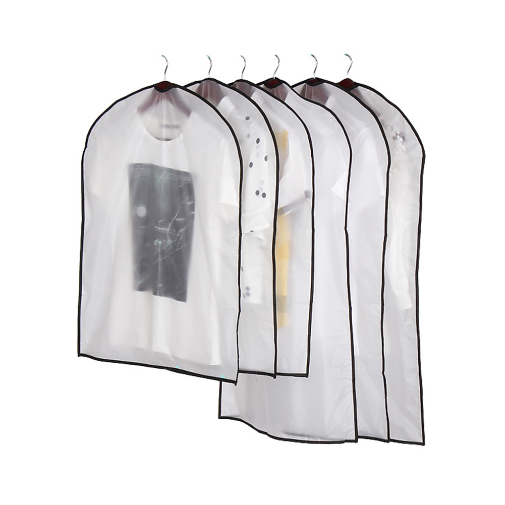 5pcs Hanging EVA Garment Bags Clear Waterproof Suit Bag Travel Clothes Cover