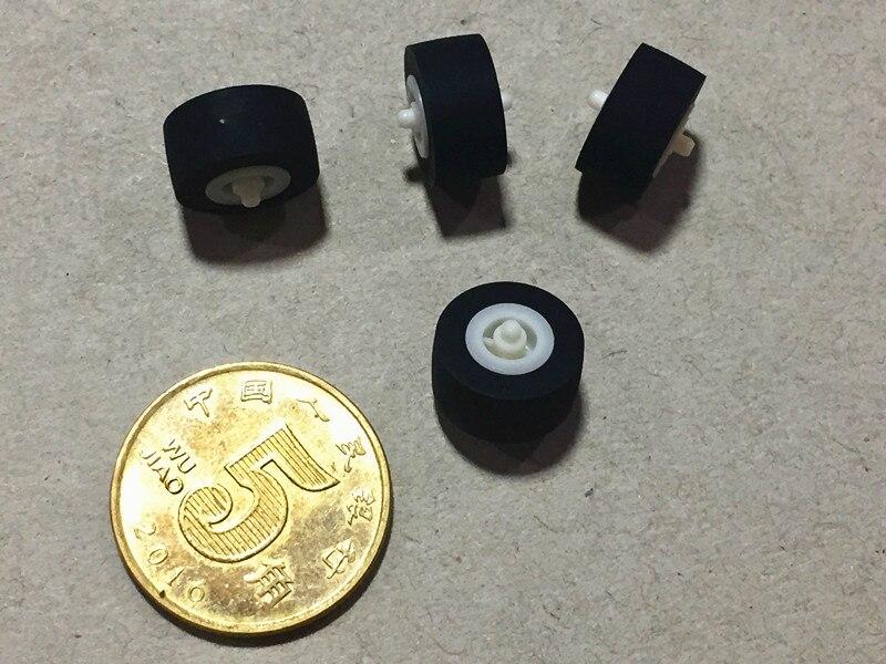 4pcs 11mmx5.5x1.5 Car Retractor Press Belt Pulley Deck Audio Pressure Recorder Press Cassette Deck Roller Tape Card Seat Pinch